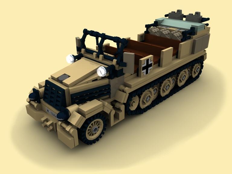 custom bauanl sdkfz 7 ruine wehrmacht bunker ww2 wwii. Black Bedroom Furniture Sets. Home Design Ideas