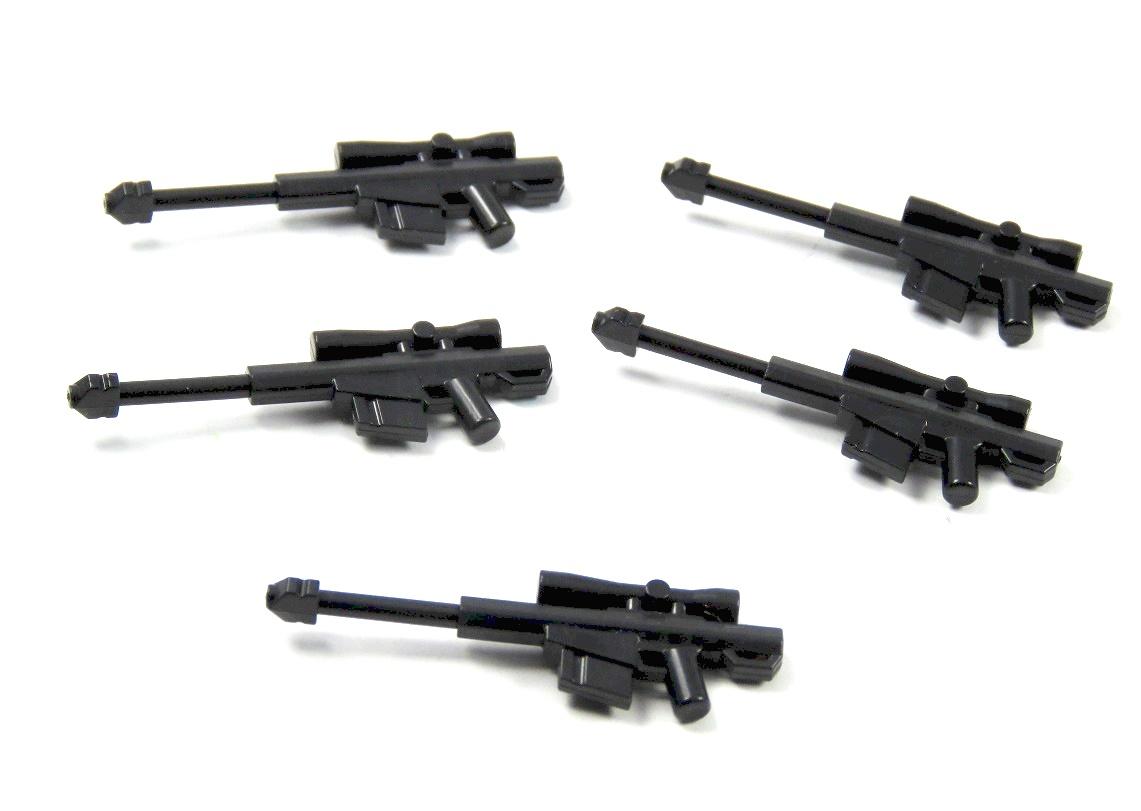 5 Custom Waffen Gewehr Scharfschütze MG für LEGO® Figuren SWAT Polizist Soldat