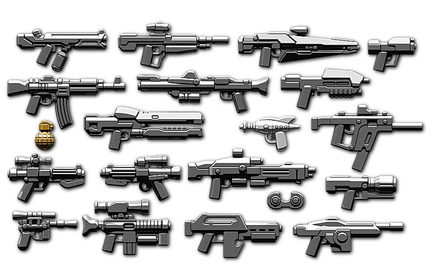 Custom Brickarms Sci Fi 2016 2 5 Weapons Pack Waffen F 252 R