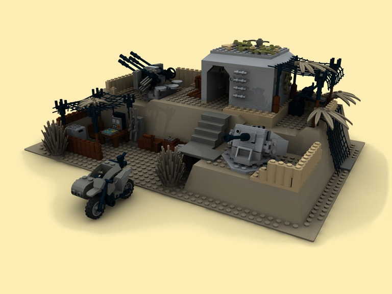 custom bauanl flak 30 38 bunker wwii ww2 soldaten tank pdf aus lego steinen ebay. Black Bedroom Furniture Sets. Home Design Ideas