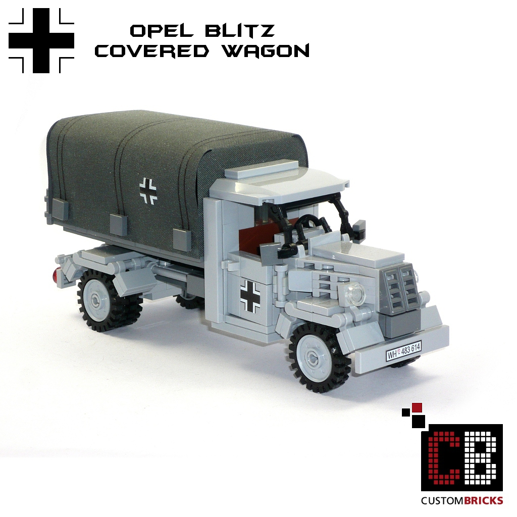 cb custom modell ww2 wwii opel blitz mit plane planenwagen. Black Bedroom Furniture Sets. Home Design Ideas