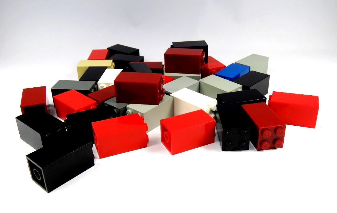 CREATOR  10 Bausteine 4617857 in rot 2x10 Noppen  NEU CLASSIC LEGO CITY