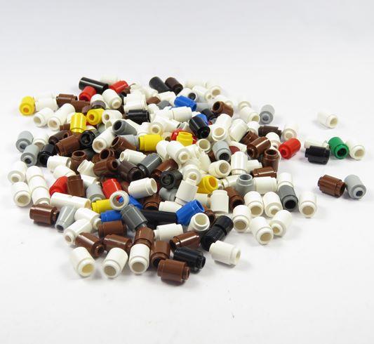 lego posten 1x1 runde steine div farben s ule grau wei schwarz ersatzteile ebay. Black Bedroom Furniture Sets. Home Design Ideas