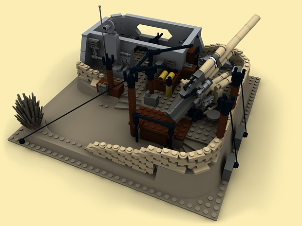 custom pdf bauanleitung ww2 wwii afrikakorps bunker flak panzer f r lego steine ebay. Black Bedroom Furniture Sets. Home Design Ideas