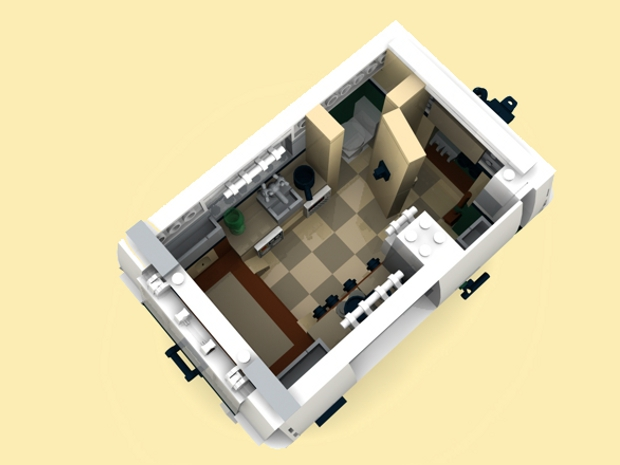 custom pdf bauanleitung wohnwagen anh nger f r lego steine zb mini cooper 10242 ebay. Black Bedroom Furniture Sets. Home Design Ideas
