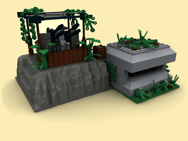 custom pdf bauanleitung ww2 wwii flak38 bunker 20mm artillerie f r lego steine ebay. Black Bedroom Furniture Sets. Home Design Ideas