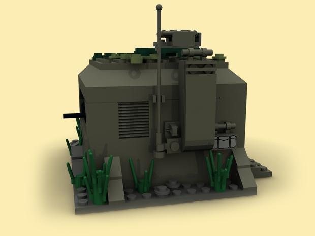 custom pdf bauanl ww2 bunker funkbunker wehrmacht wwii army f r lego steine ebay. Black Bedroom Furniture Sets. Home Design Ideas