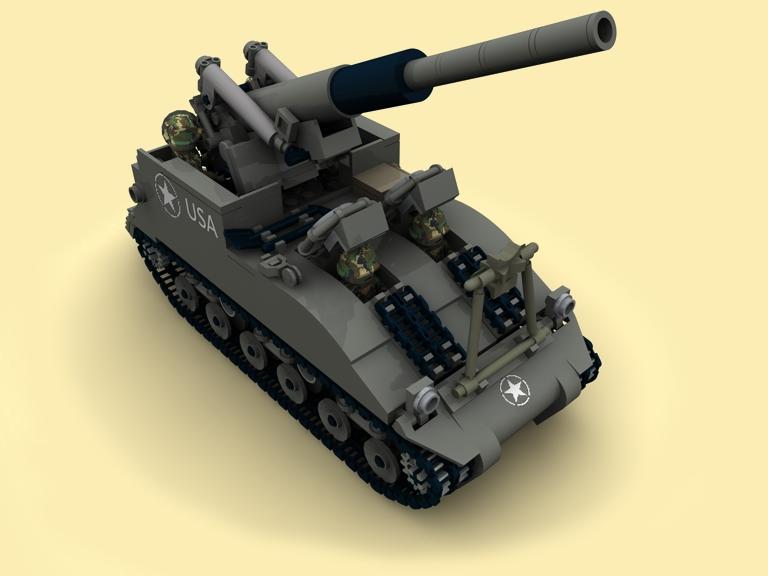 custom pdf bauanleitung ww2 wwii m40 gmc artillery panzer. Black Bedroom Furniture Sets. Home Design Ideas