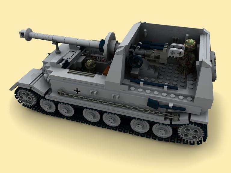 custom bauanl ww2 wwii german panzer elefant sdkfz 184. Black Bedroom Furniture Sets. Home Design Ideas