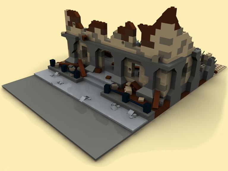 custom bauanl ruine modular building wwii ww2 pdf instruction aus lego steine ebay. Black Bedroom Furniture Sets. Home Design Ideas