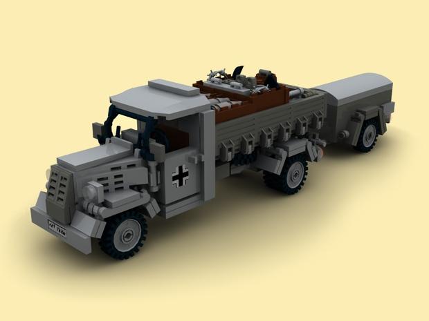 custom bauanl ww2 panzer4 m rser karl pak40 opel blitz bunker f r lego steine. Black Bedroom Furniture Sets. Home Design Ideas