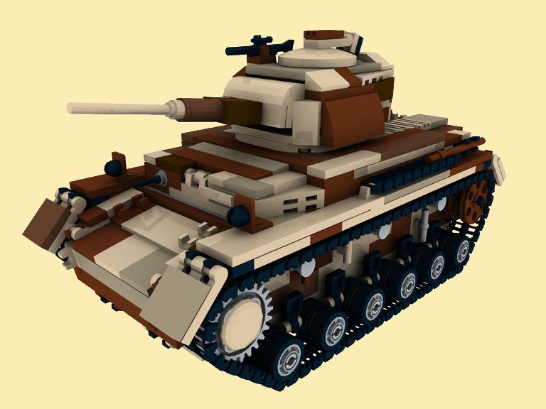 custom bauanleitung camo pzkpfw 3 wwii ww2 panzer aus lego. Black Bedroom Furniture Sets. Home Design Ideas