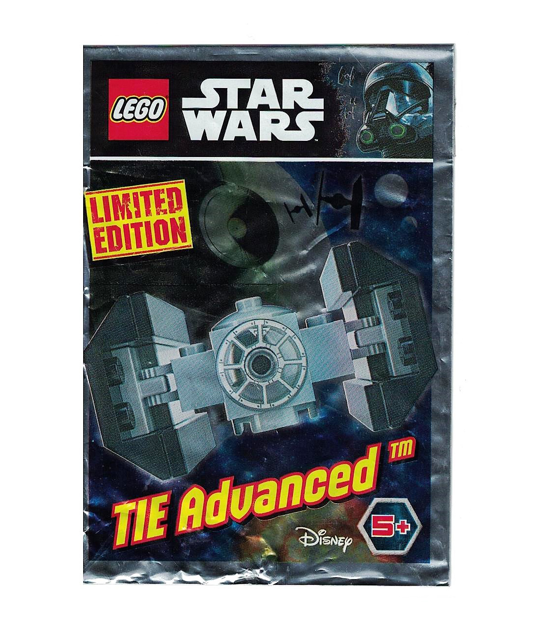 Lego 911722 STAR WARS TIE advanced Poly Sac Stocking Filler