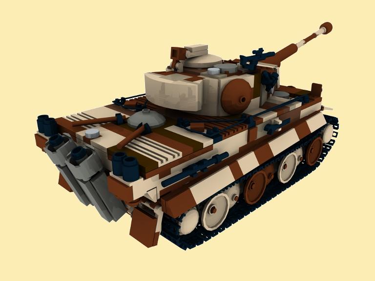 custom bauanleitung camo pzkpfw vi tiger panzer ww2 wwii aus lego tank pdf ebay. Black Bedroom Furniture Sets. Home Design Ideas