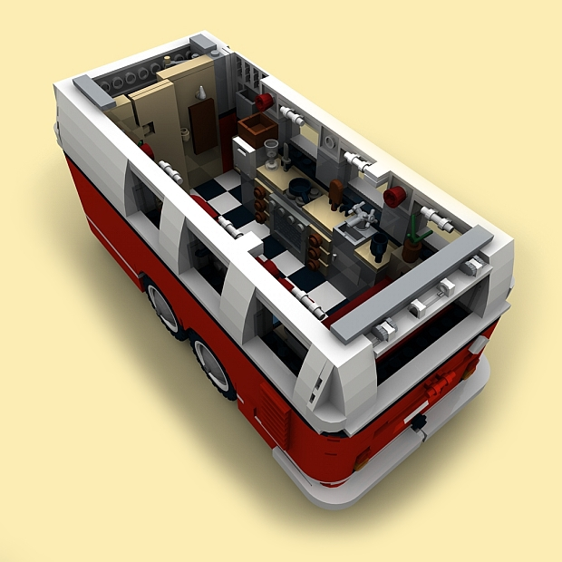 custom pdf bauanl wohnwagen f r lego steine z b f r 10220 t1 bus anh nger ebay. Black Bedroom Furniture Sets. Home Design Ideas