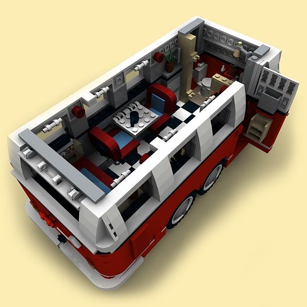 custom pdf bauanleitung wohnwagen 2achser anh nger f r lego steine zb t1 10220 ebay. Black Bedroom Furniture Sets. Home Design Ideas