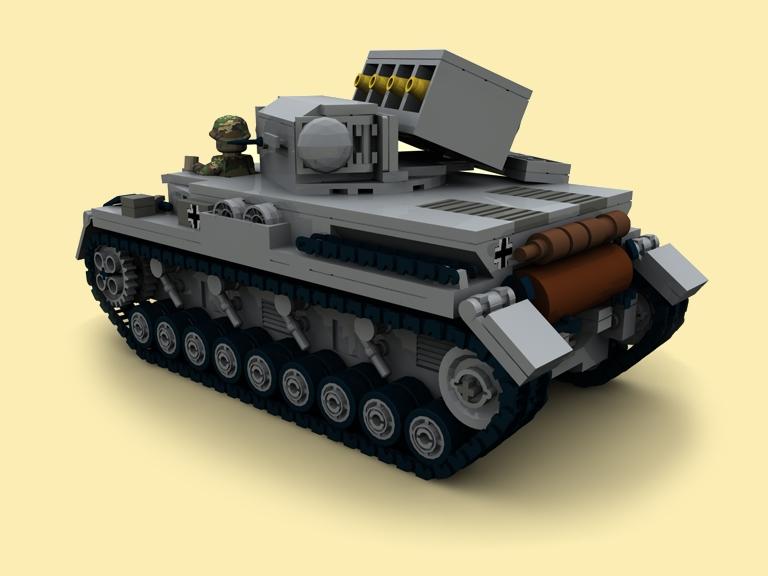 custom bauanl ww2 wwii pzkpfw iv raketen panzer 4 tank. Black Bedroom Furniture Sets. Home Design Ideas