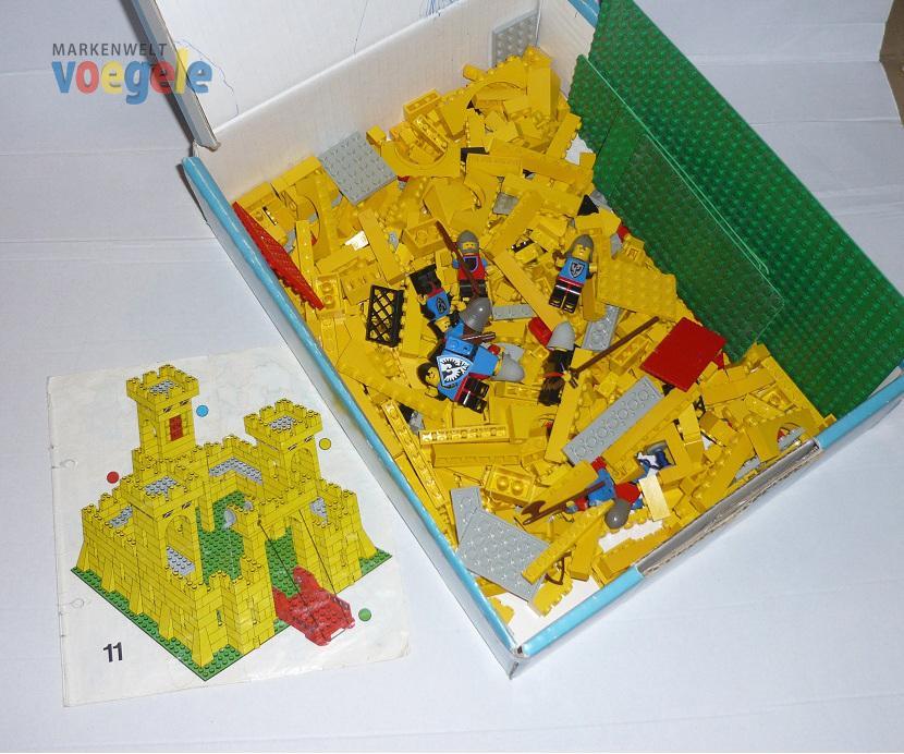 lego ritterburg castle 375 gelbe burg mit bauanleitung von 1978 ebay. Black Bedroom Furniture Sets. Home Design Ideas