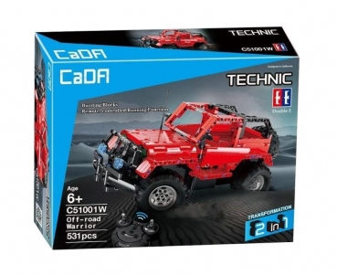 CaRA R/C Technic red Truck 2 in 1 2.4 G 531 parts