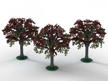 BlueBrixx Beech trees, set of 3    753 parts