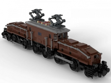 BlueBrixx Legendary locomotive: Krokodil in brown 1010  parts 102880