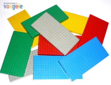 LEGO 5 high plates in different colours  and sizes