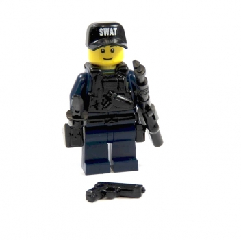 Custom Figure  Agent from LEGO® parts and custom accessories blue