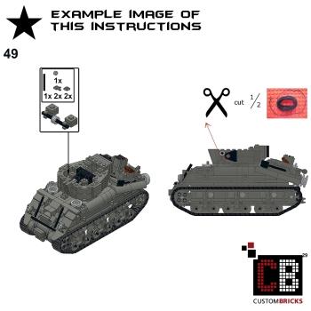 Custom Instruction For Ww2 M32b1 Sherman Recovery Tank Markenwelt
