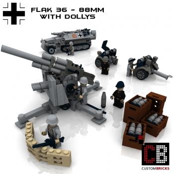 Custom Instruction For Ww2 Artillery Flak 36 88mm Anti Tank Gun