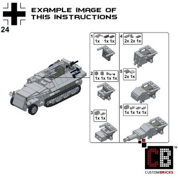 Custom Instruction For Sdkfz 251 9 Ausfc Armored Tank Markenwelt