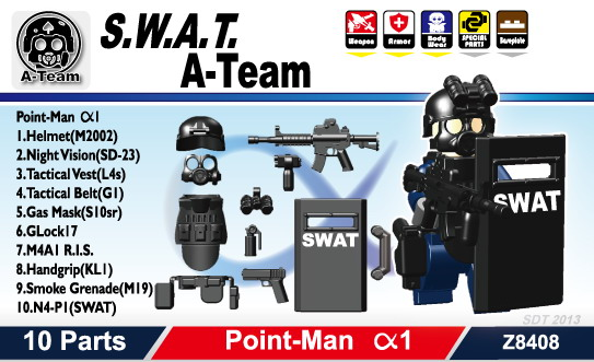 Custom Minifig.cat SWAT weapons set with for LEGO figures ...