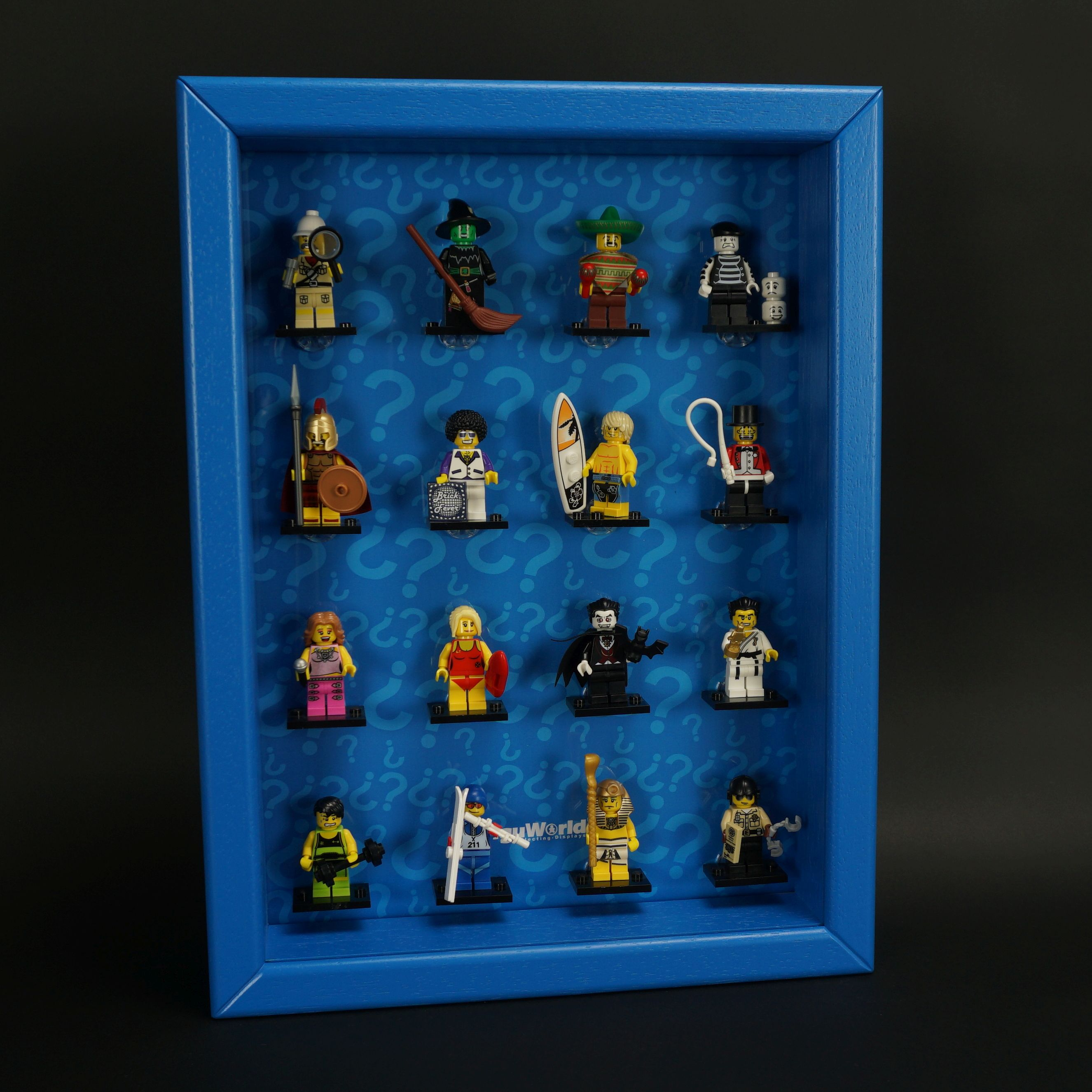 Figucrate click system display case for lego series 2 for Case lego city
