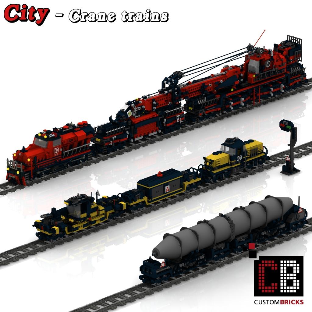 Custom 2 Trains With Cranes Markenwelt Voegele