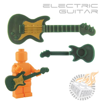 Custom Brick Forge Elektrische Gitarre grün gold mit einem Druck für ...