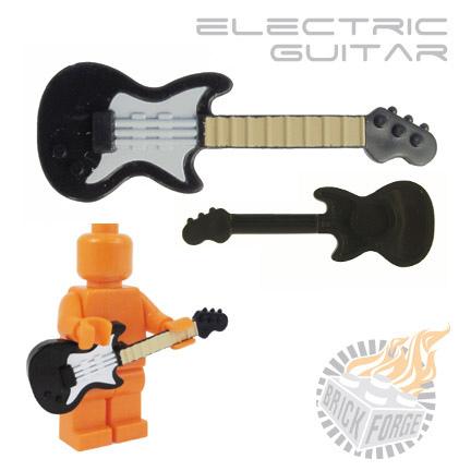 Custom Brick Forge Elektrische Gitarre schwarz weiß mit einem Druck ...
