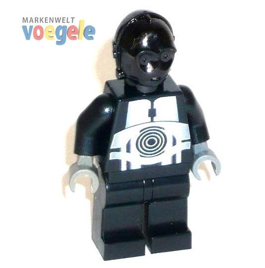 Custom Star Wars Figur Protocol Droid C 3po In Schwarz Aus Lego