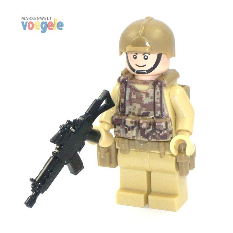 figur us soldat spezialeinheit aus lego teilen mit custom zubeh r light flesh mit waffe. Black Bedroom Furniture Sets. Home Design Ideas