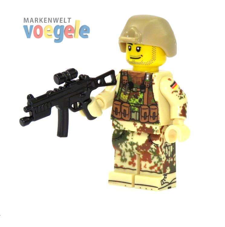 9642d9589b15 Custom Figure German Bundeswehr Soldier with Gun made of LEGO R1 R7 ...