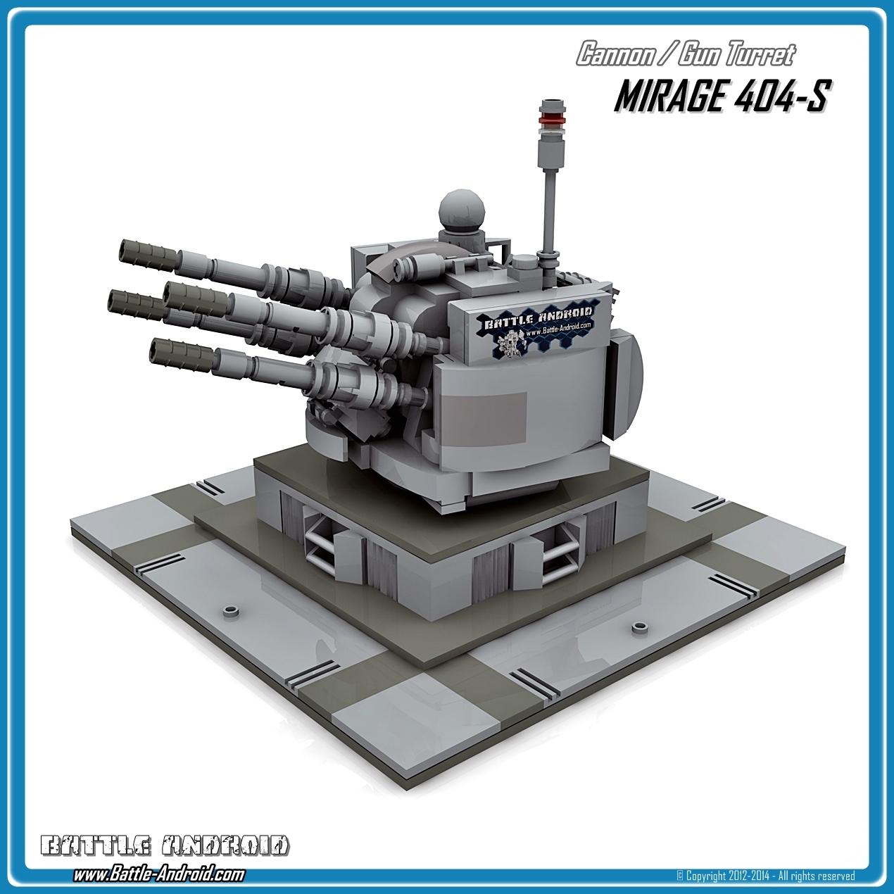 Custom Pdf Building Instructions Mirage 404s Grey For Lego Bricks