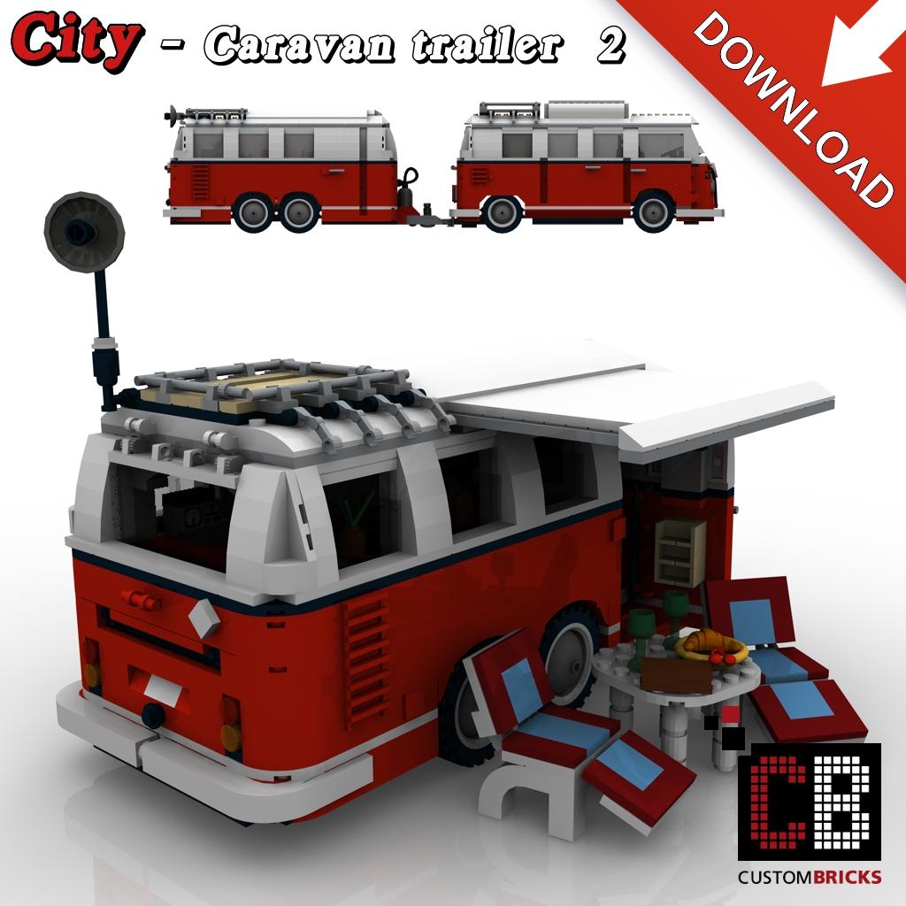 Lego City Car And Caravan