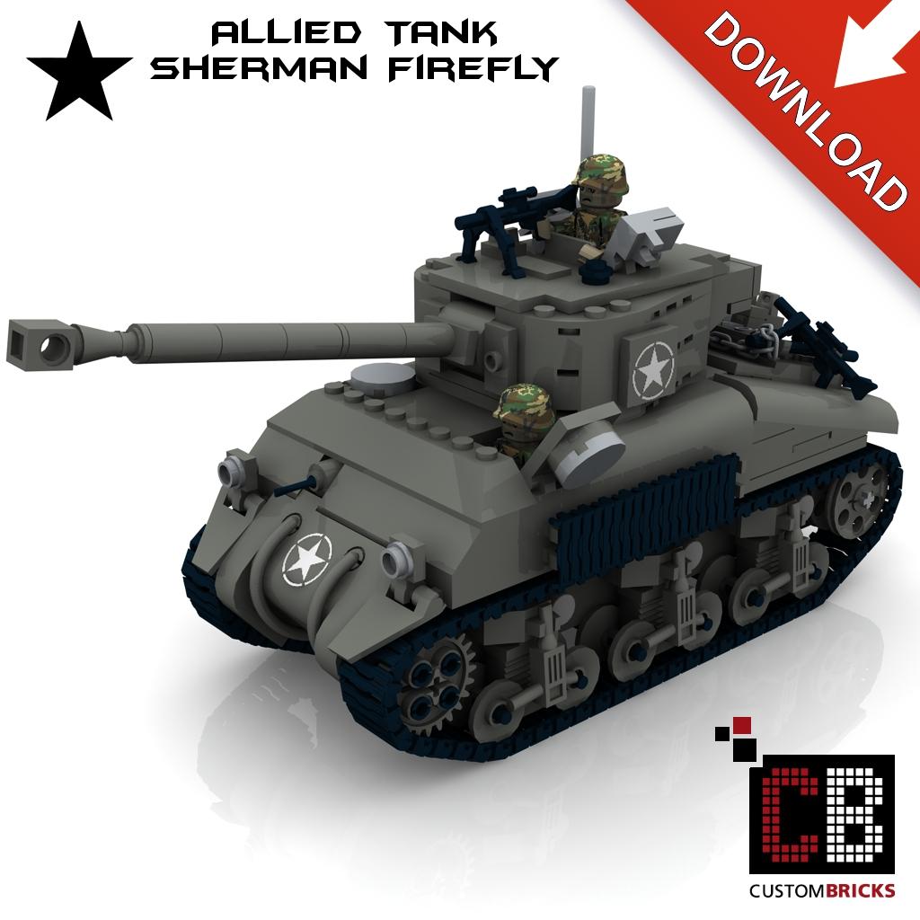 Custom instruction for WW2 Sherman Firefly Tank - Markenwelt Voegele