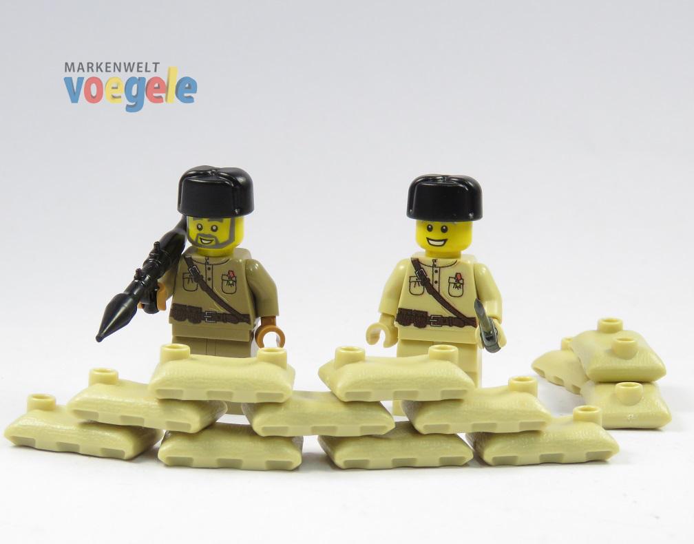 russische stellung 2 figuren soldat tan hochwertig bedruckt aus lego teilen markenwelt voegele. Black Bedroom Furniture Sets. Home Design Ideas