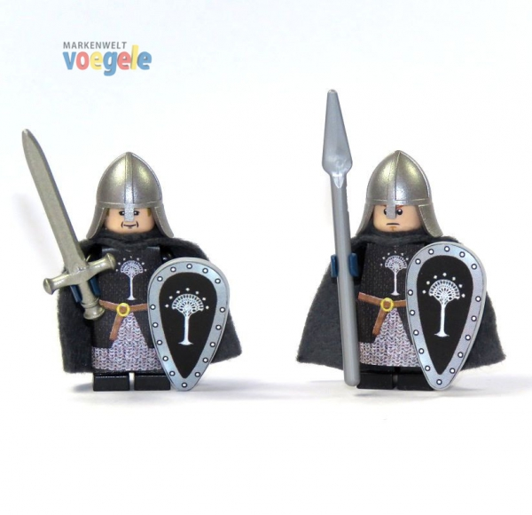custom the lord of the rings figure gondor warrior made of