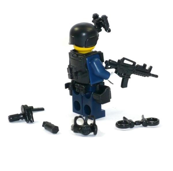 polizei figur swat spezialeinheit aus lego® teilen mit