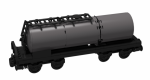 BlueBrixx Railroad Standard tank wagon center black with 178 parts