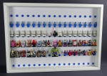FiguCrate Click System Display 50 x 70 case for 102 LEGO® figures white white with blue stone
