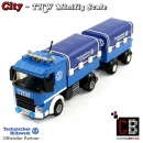 CUSTOM THW truck short with trailer made of LEGO® bricks