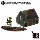 CustomBricks Bundeswehr tent with minifig from LEGO parts