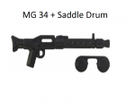 Brickarms MG34 + Saddle Drum schwarz für LEGO Figuren